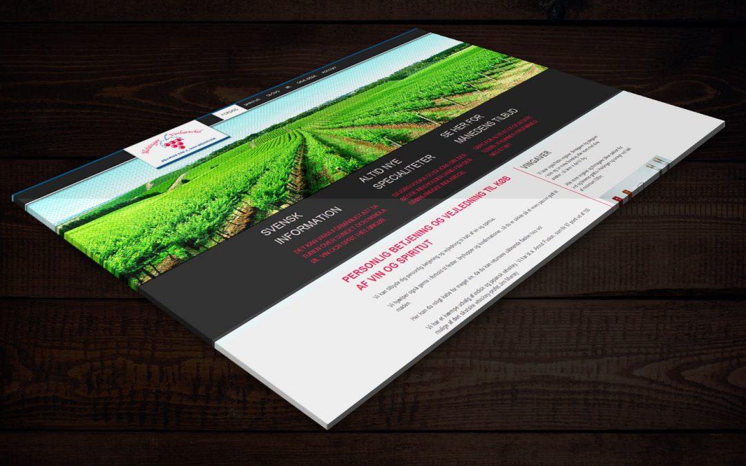 Webdesign for Helsingør vin