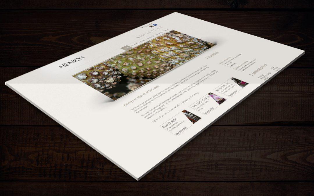 Webdesign for Henrys